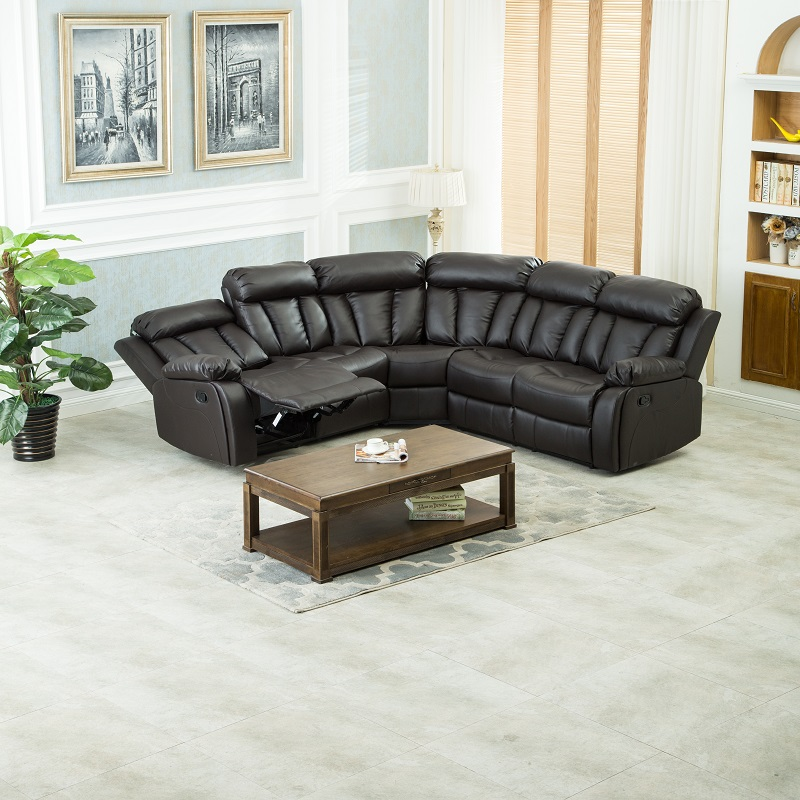 Hot Sale!!! Home Leather Living Room Recliner Sofa Sets ZOY-9928A