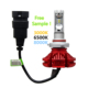Led Auto Lamp H7, High Low Beam Zes Chip Three color 8000lm H13 H4 X3 Auto LED Headlight