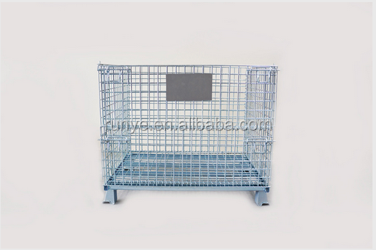 Wire mesh Container size L1200*<strong>W1000</strong>*H890 stacking and folding with 1200KG for all the industrial product