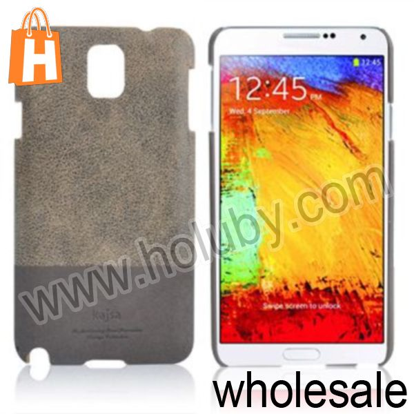 Dual Color Vintage Leather Coated Back Cover Hard Case for Samsung Galaxy Note 3 N9000 N9002 N9005