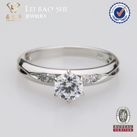 925 sterling silver jewelry engagement Ring 6 Claws AAAAA CZ Diamond Ring