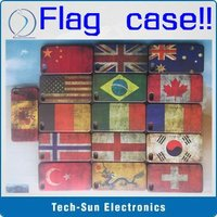 Retro Unique Slim USA UK Australia National Flag Hard Back Case Cover For iPhone 4G 4S