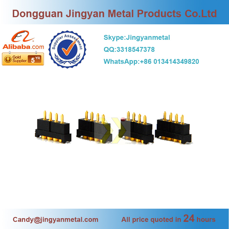 spring loaded battery charging contacts,3.0mm pitch pogo pin connector