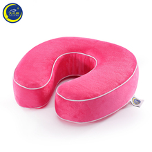 Meijie brand factory price U shape cherry stone pillow warming funny neck pillow