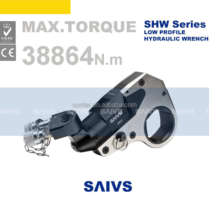 low profile hollow cassette hydraulic torque wrench