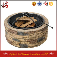 35-Inch Outdoor Cast Stone Fire Pit