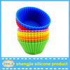 2015 hot cake tool silicone round shape baking cups with pvc box packing baby muffin cakecup mold