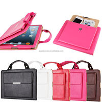 Shenzhen company PU leather handbag stand case for iPad 2 3 4 , for iPad handbag