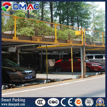 Mechanical hydraulic puzzle parking system, multilevel parking, 3 levels, multilayer, 4 columns robotic smart