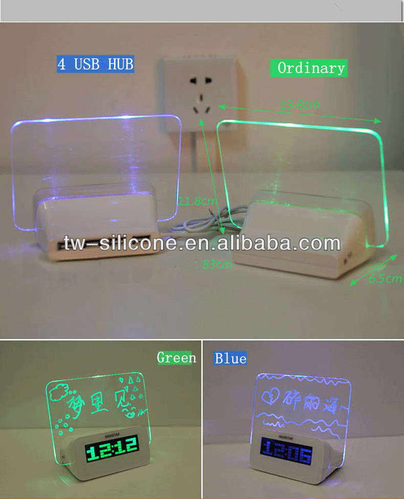 pretty card digital mini alarm clock