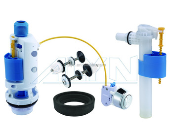 Europe market toilet cistern repair kit cistern flush mechanism