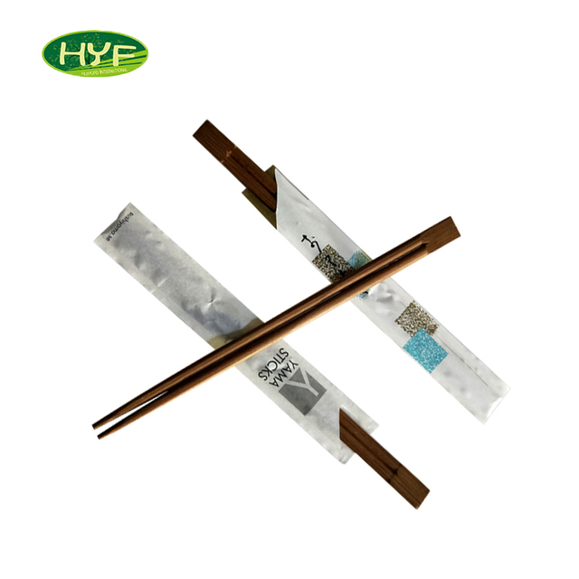 Cheap Disposable Carbonized Twin Bamboo Promotional Chopsticks