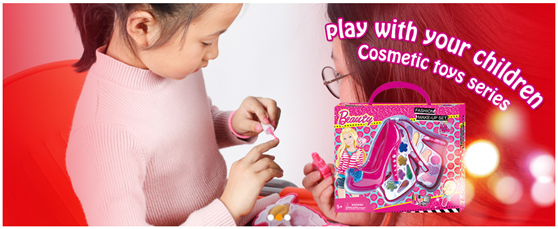 Hot selling fashion design plastic toys makeup sets for girls, kids cosmetic set