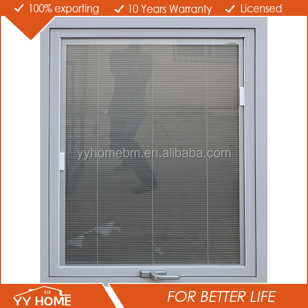 Aluminium Hand Crank Window With Built In Blinds