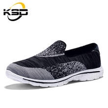 Flyknit Men Casual Shoes Cloth Material Sports Shoes Unisex Casual Sneakers