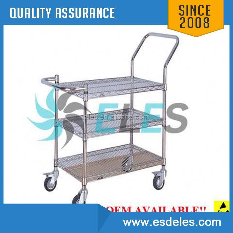 carbon steel high quality esd smt reel storage cart