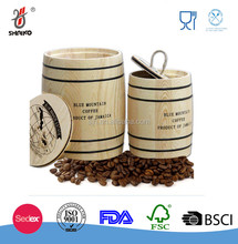 Mini wooden coffee barrel