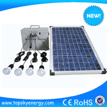 6w solar system solar panel system used in home 30w/12v home solar system for home lighting