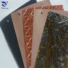 Custom Retro design style decoration material PVC leather for furniture