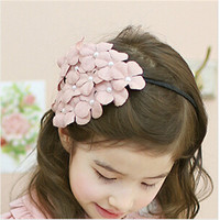 Wholesale bulk eco-friendly flower with beaded design beautiful kids hair accessories headband infant hair accessories AHB1239