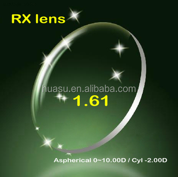 Hi-index 1.61Aspherical lens RX Lab eyewear demo lens