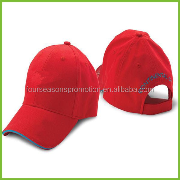 Bright Red Sports Caps For Travel Team