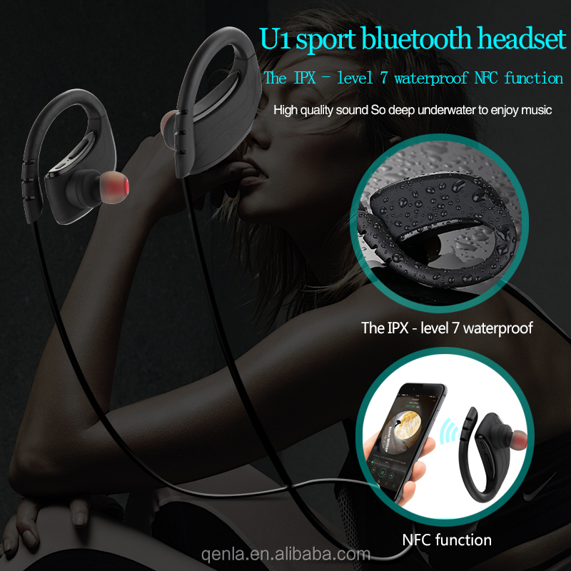 2017 Prefessional New IPX7 Waterproof Cordless Bluetooth stereo headphone&earbuds,Stereo Bluetooth headsets&earphones for iPhone