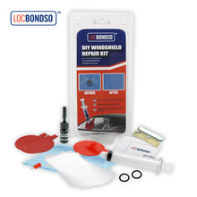 LOCBONDSO Windshield Repair Kit Tool Car Auto Glass For Chip & Crack Fix your Windscreen Do It Yourself