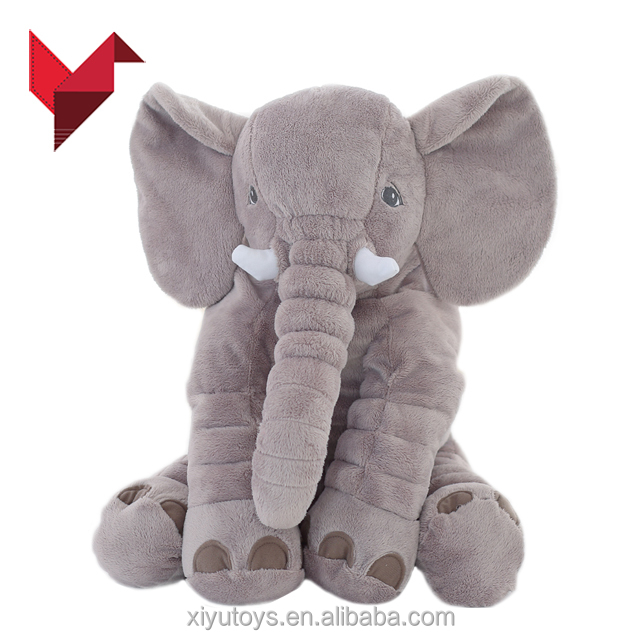 super soft custom pacifier baby grey elephant plush toy