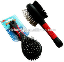 China pet grooming brush brand new for dogs and cats double side brush two in one