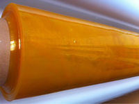 yellow color transparent film screen film with fire retardant anti-uv