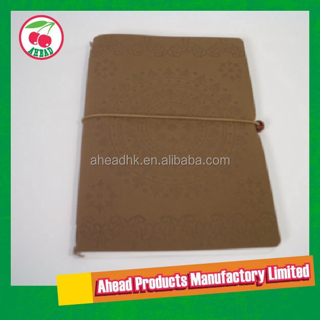 Removable Saddle-stitch binding with leather notebook