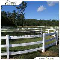 2016 New Arrival Fentech White 3 Rail cheap used horse fence panels