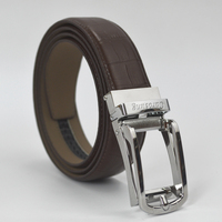 Carosung Genuine Leather Automatic Simple Frame Buckle Belt for Men CCSR-01