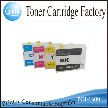 2015 New Products refillable ink cartridge PGI-1600 with chip for Canon MB2360
