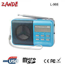 portable mini fm auto scan radio L-968 support usb flash drive and sd card