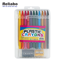 Reliabo Wholesale High Demand Products Kids Plastic Crayon Sets With Eraser Sharpener