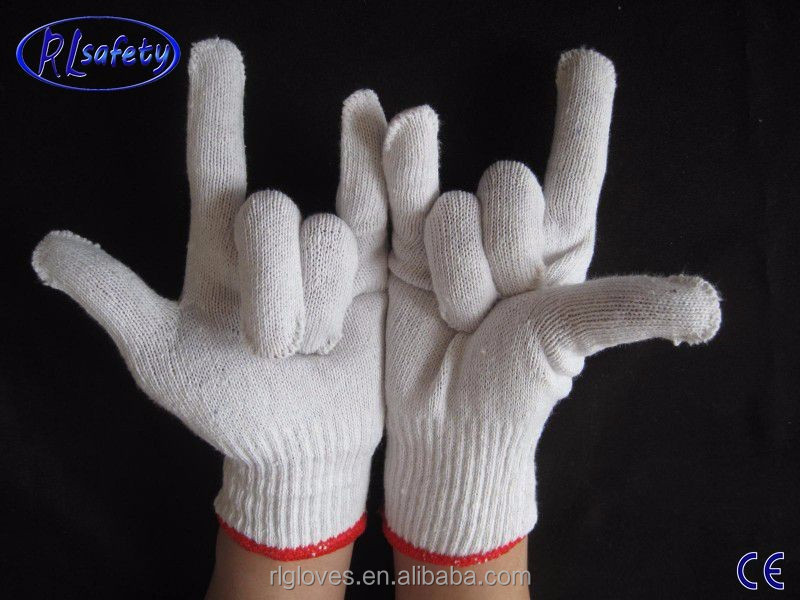 RL SAFETY 13 guage polyester/nylon/cotton knittedgloves knitted safety working gloves lowest price EN388