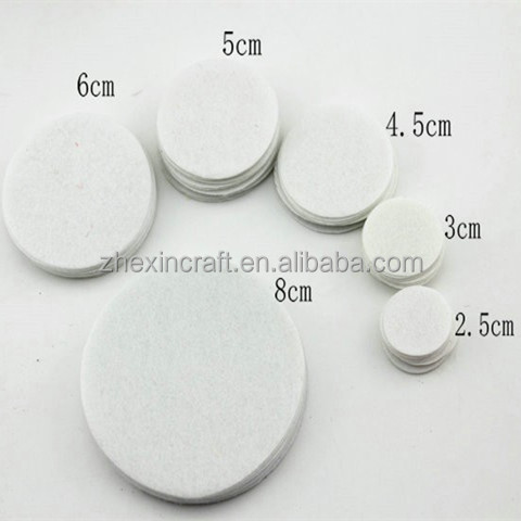 4cm Round Felt fabric pads accessory patches circle felt back pads, fabric flower accessories