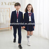 Custom Primary school uniform sex with dress shirts and tie