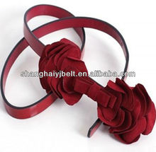 FASHION BIG FLOWER BELT WESTEN DECORATE DRESS BELT FOR LADY