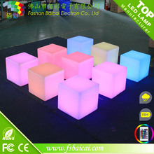 Cordless Rechargeable LED Outdoor Light Cube/LED Bar Chair/Cube Chair