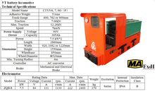 Brand New Narrow Gauge Tunnel Locomotive 5 Tons For Sale