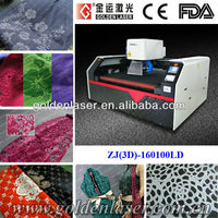 Galvo laser engraving cutting machine for fabric,leather,cloth