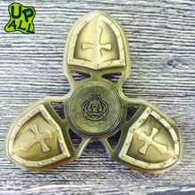 New Model Fashion 608 Bearing Hand Gyro Spinner Toys High Quality Relieve Stress Cross Crusader Brass Alloy Metal Fidget Spinner