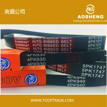 rubber original Pk belt Aosheng Transmission parts Auto V belt Ribbed Belt wholesales