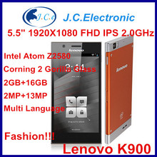 New Arrival 2013 Original Dual Core Phone Intel Inside Lenovo K900 Android 4.2 HighScreen 1920*1080 Gorilla Galss