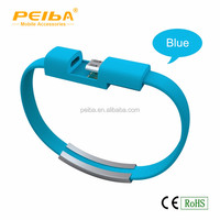 China New Universal 2 in 1 Mobile Phone Charger USB Data Cable bracelet usb data cable