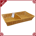 Graceful widely use handwoven SGS testing storage basket with dividers