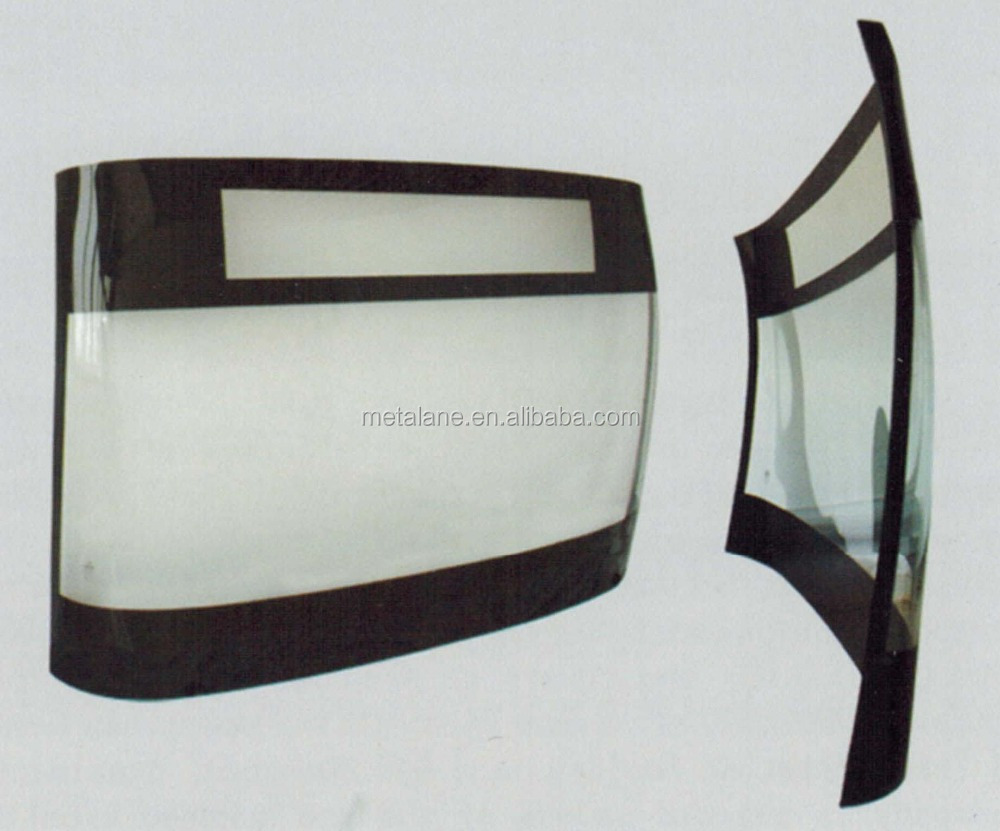 Bus front hyperboloid windshield glass